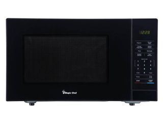 Magic Chef 1 1 cu  ft  Countertop Microwave in Black with Gray Cavity