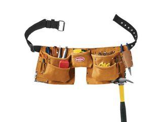 Suede Carpenters Apron  11 pocket  Pull R   55149