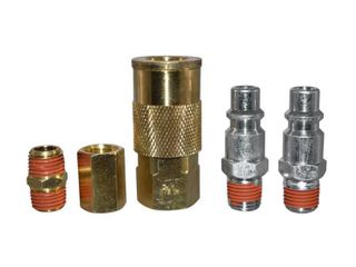 Husky 3 8 in  Industrial Style Quick Connector Kit  4 Pcs