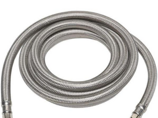 Everbilt 1 4 in  x 1 4 in  x 120 in  Stainless Steel Ice Maker Supply line