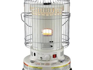 DuraHeat Portable Convection Kerosene Heater Provides 23 800 Btu s of Warmth  Beige Cream
