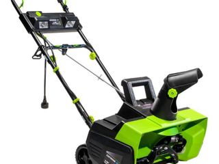 Earthwise 22 in  14 Amp Corded Electric Snow Thrower with lED lights