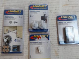 Master Magnetic Magnetic assorted magnet attachments  Qty  4