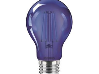 Philips 60 Watt Equivalent A19 Non Dimmable Autism Speaks Blue lED Colored Glass light Bulb  Qty  3
