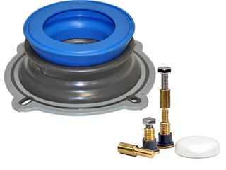 NEXT BY DANO All in One Toilet Installation Kit with Perfect Seal Wax Ring   Zero Cut Bolts  Blue and Gray  1 Pack  10879X