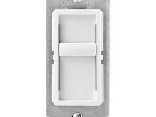 leviton 6672 1lW SureSlide Universal 150W lED CFl Incandescent Slide To Off Dimmer  White