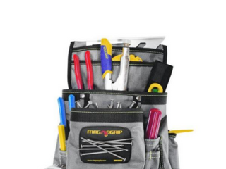 MagnoGrip 11 in  10 Pocket Platinum Magnetic Tool Pouch