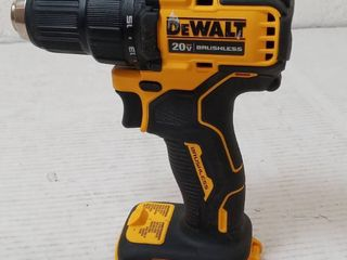 DEWAlT ATOMIC 20 Volt MAX Cordless Brushless Compact 1 2 in  Drill Driver  Tool Only  missing battery