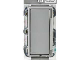 leviton Decora 600 Watt Single Pole 3 Way Universal Rocker Slide Dimmer  Gray