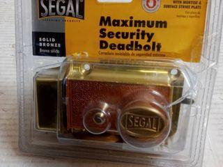 Segal Maximum Security Deadbolt Solid Bronze