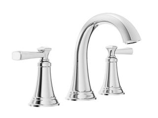 American Standard Rumson 8 in  Widespread 2 Handle Bathroom Faucet in Polished Chrome