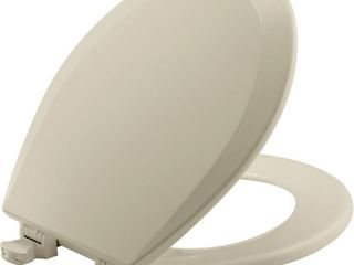 Bemis 500EC006 Molded Wood Round Toilet Seat With Easy Clean and Change Hinge  Bone
