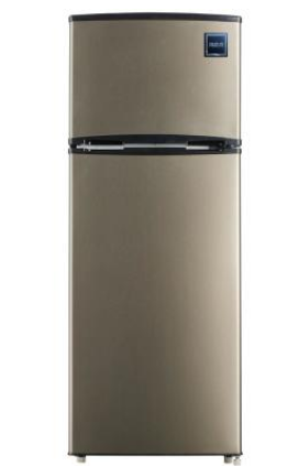 RCA 7 5 cu  ft  Refrigerator with Top Freezer in Stainless look