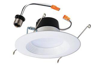 Cooper lighting lT560WH6927R 0 83 in  lED Retrofit Recessed Baffle Trim   2700K