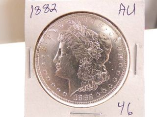 1882 MORGAN DOllAR   AU