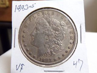 1883 S MORGAN DOllAR   VF