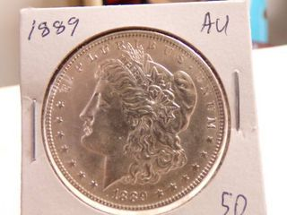 1889 MORGAN DOllAR   AU