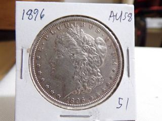 1896 MORGAN DOllAR   AU58