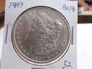 1897 MORGAN DOllAR   AU58