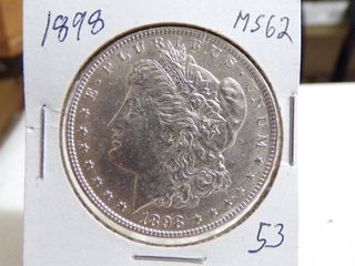1898 MORGAN DOllAR   MS62