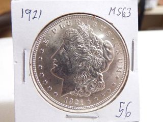 1921 MORGAN DOllAR   MS63
