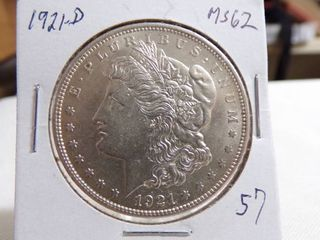 1921 D MORGAN DOllAR   MS62