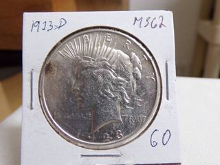 1923 D PEACE DOllAR   MS62