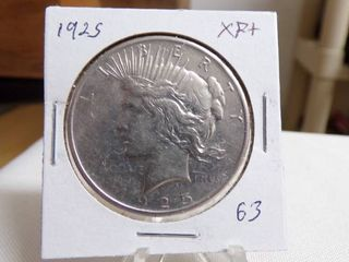 1925 PEACE DOllAR   XF