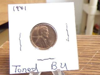 1941 lINCOlN CENT BU TONED