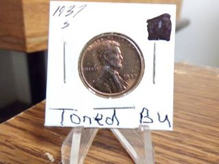 1937 S lINCOlN CENT BU TONED