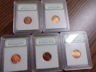 5 lINCOlN CENTS 2009 D GEM BU