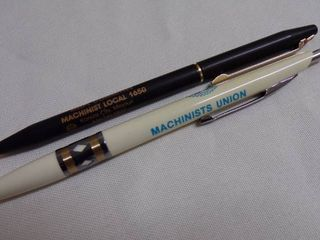 2 MACHINIST UNION PENS