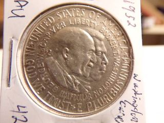 1952 WASHINGTON CARVER COMMEMORATIVE HAlF   AU