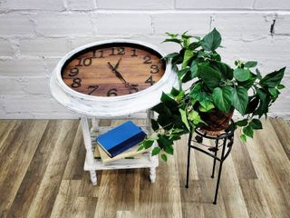 Clock Decor Side Table