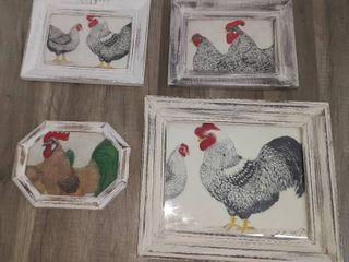 Four Various Size Frames Painted White