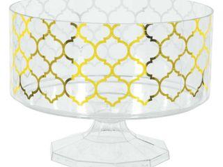 Four Gold Quatrefoil Trifle Bowls