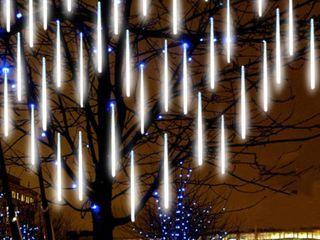 Ten White lED Hanging lights