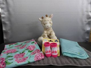 New Baby Blanket  Socks  Changing Pad   Plush Animal