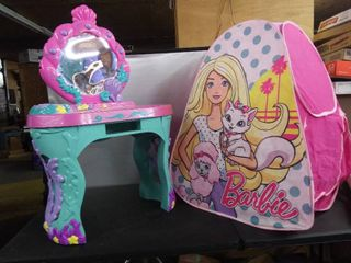 Barbie Play Tent and Disney Play Vanity