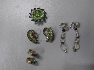 Pin   Earring Set Plus 2 Pr  Earrings