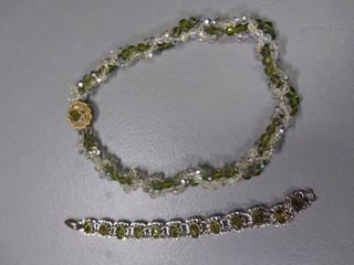 Very Nice Glass Bead Necklace   Stone Bracelet