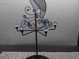 Peacock Rotating Jewelry Holder