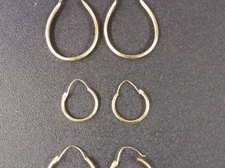 KT Gold Marked Earring lot