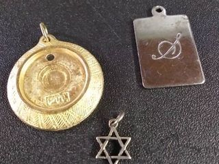 Sterling Silver Star   locket Charms lot Of 3
