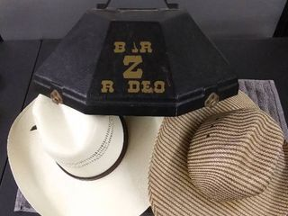 Cowboy Hats   Plastic Hat Box
