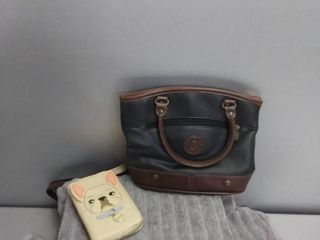 Brown Purse And Cream Puppy Wallet