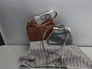 Brown Purse  Silver Cultch Purse