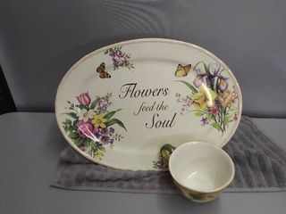 Serving Platter With Big Tea Cup