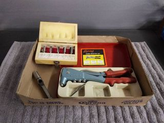 Tool lot   9   Hand Rivet Kit and Drill Bits