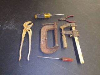 Tool lot   39   Assorted Tools with Clamps